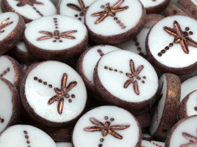 Dragonfly Coin Beads