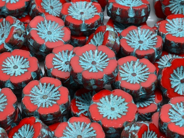 Hawaiian Flowers Beads