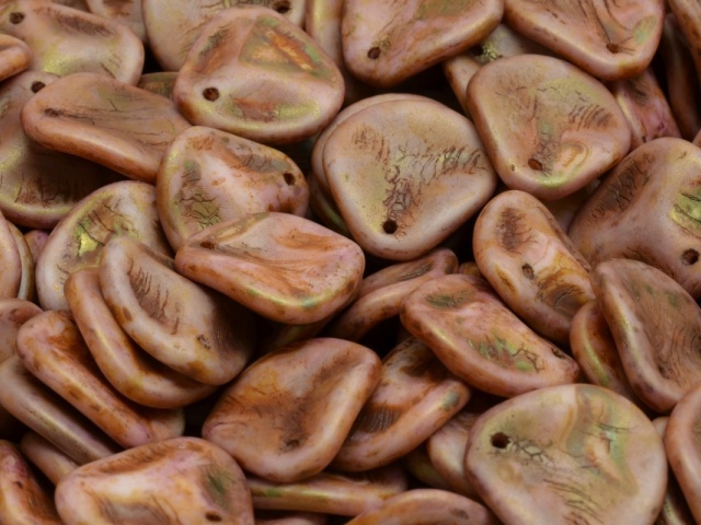 Rose Petal Beads 14x13mm