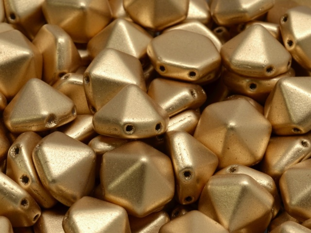 Hexagon Pyramid Stud Beads 12x12mm