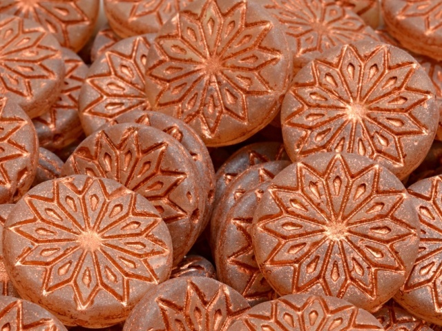 Origami Flower Beads 18x18mm